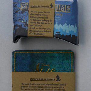 2 Aladdin Disney Kid`s Card Game Set Sand Timer